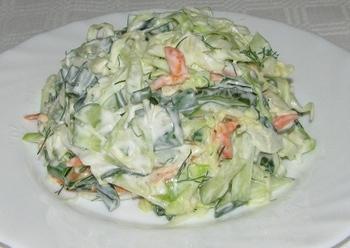 "Салат з капусти ""Весняний ранок"""