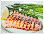 Смажене філе лосося