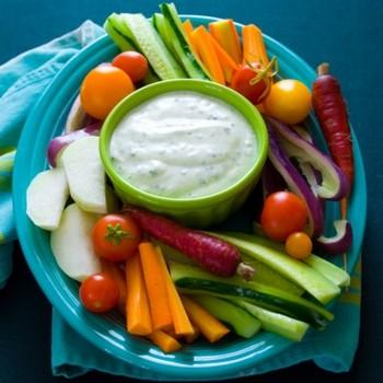 Творожный соус для овощей