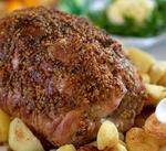 Запеченая свинина з горчичной корочкой