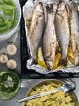 Рыба с тимьяном и грибами
