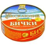 Бычки Морской Пролив Эксклюзив обжаренные в томатном соусе 240г