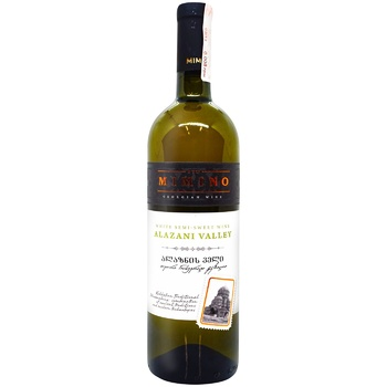 Mimino Alazany Valley White Semi-sweet Wine 11-12% 0,75l - buy, prices for EKO Market - photo 1