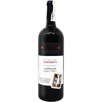 Вино Mimino Саперави красное сухое 11-12% 0,75л - купить, цены на ЕКО Маркет - фото 1