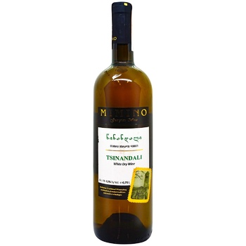 Mimino Tsinandali White Dry Wine 10-13% 0,75l - buy, prices for EKO Market - photo 1