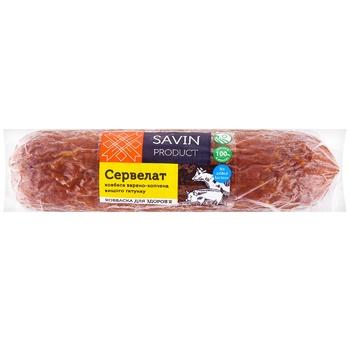Ковбаса Savin Product Сервелат варено-копчена вищого гатунку - купити, ціни на Ашан - фото 1