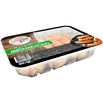 Колбаски для гриля М'ясна Весна Мюнхенские охлажденные - купить, цены на Ашан - фото 1