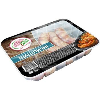Колбаски Мясная весна Шашлычные для гриля охлажденные 600г - купить, цены на Ашан - фото 1