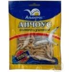 Snack anchovy Albatros salted dried 36g Ukraine