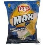 Чіпси картопляні хвилясті Lay's зі смаком сметани та цибулі Max 26г