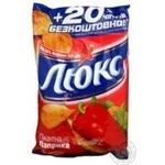 Potato chips Lux with paprika taste contains iodized salt 96g Ukraine