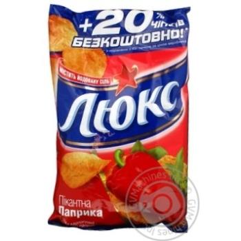 Чипсы Люкс картофельные со вкусом паприки содержит йодированную соль 96г Украина