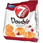 7 Days Double Croissant with vanilla and cherry 60g