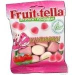 Цукерки жувальні Fruit-tella Полунички 70г