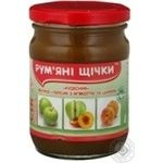 Juice Rumyanye shchechki peach for children 250g glass jar Ukraine