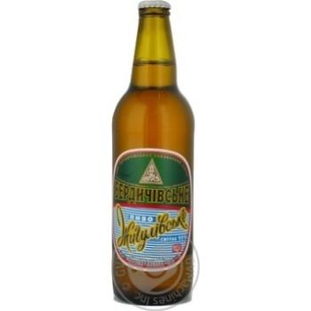 Пиво Бердичевское Жигулевское живое светлое непастеризованное 3.7%об. 500мл