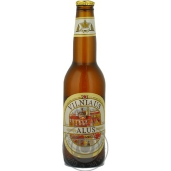 Pasteurized unfiltered lager Vilniaus Alus glass bottle 5.2%alc 330ml Lithuania - buy, prices for Novus - image 6