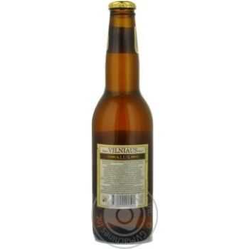 Pasteurized unfiltered lager Vilniaus Alus glass bottle 5.2%alc 330ml Lithuania - buy, prices for Novus - image 4