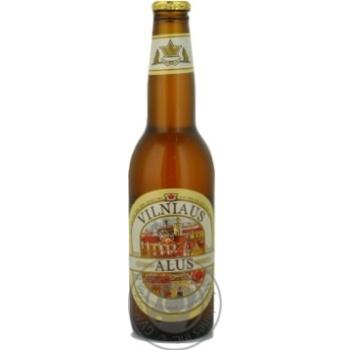 Пиво Вільнюс Алус світле нефільтроване пастеризоване скляна пляшка 5.2%об. 330мл Литва - купити, ціни на Novus - фото 5