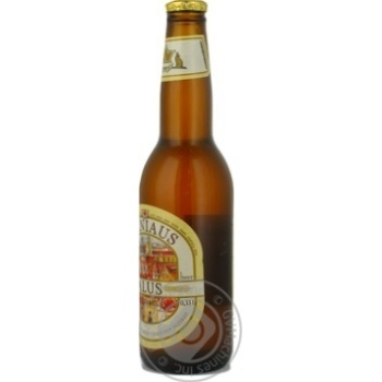 Pasteurized unfiltered lager Vilniaus Alus glass bottle 5.2%alc 330ml Lithuania - buy, prices for Novus - image 3