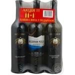 Вино Золотий вол Мускатна перлина червоне напівсолодке 12% 2006рік 750мл Україна