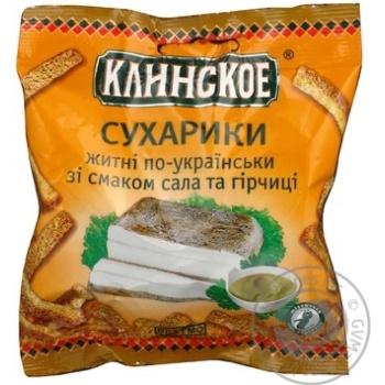Сухарики по-українськи Сало з гірчицею Клінські 40г