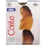 Tights Conte bronze polyamide for women 20den 2size - buy, prices for Novus - image 8