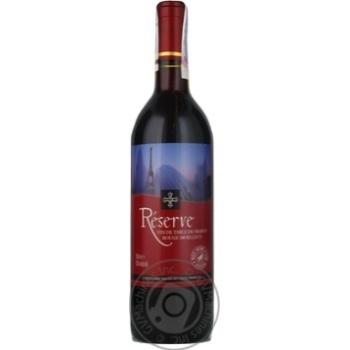 Вино красное Фонд Дю Лак Резерв виноградное натуральное столовое полусладкое 10.5% стеклянная бутылка 750мл Франция