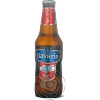 Пиво Бавария Регуляр светлое безалкогольное стеклянная бутылка 250мл