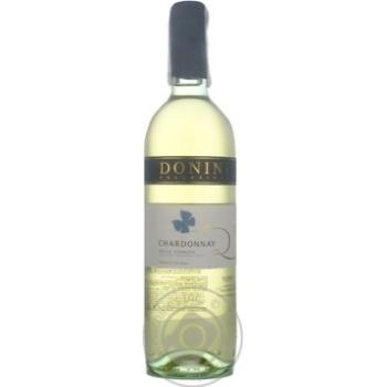 Вино Donini Chardonnay Delle Venezie IGT біле сухе 12,5% 0,75л - купити, ціни на УльтраМаркет - фото 1