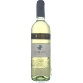 Вино Donini Chardonnay Delle Venezie IGT біле сухе 12,5% 0,75л - купити, ціни на МегаМаркет - фото 2