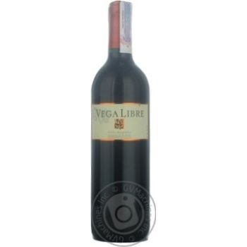 Вино 12% червоне сухе Red Vega Libre 0,75л