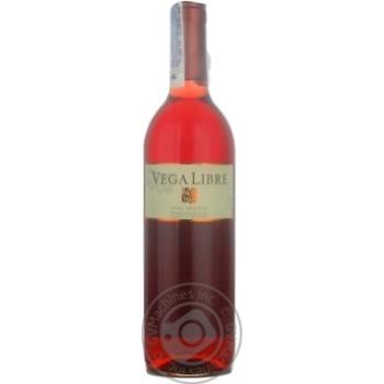 Вино Вега либре розовое сухие 11.5% 2009год 750мл стеклянная бутылка Валенсия Испания