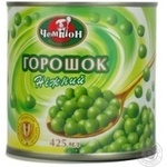 Vegetables pea Champion green canned 425ml can Ukraine