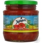 Vegetables Khutorok vegetable canned 480ml glass jar Ukraine
