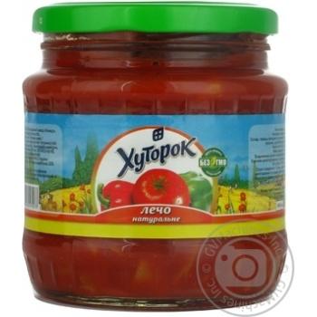 Овощи Хуторок овощи консервированная 480мл стеклянная банка Украина