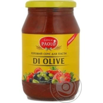 Соус Паоло масло оливы оливковый 475г стеклянная банка Украина