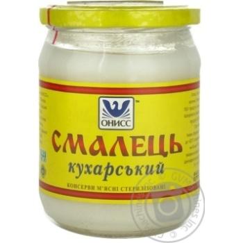 Смалець Онісс 400г скляна банка Україна