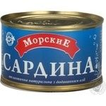 Fish sardines Morskie with addition of butter 240g can Ukraine