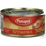 Meat Pamapol canned 300g can Poland
