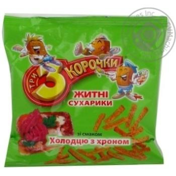 Сухари Три корочки с хреном 90г Украина
