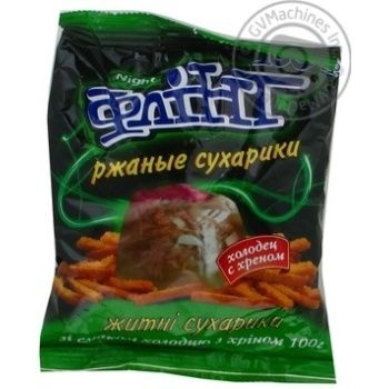 Snack Flint with horse-radish 100g Ukraine