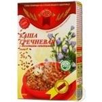 Каша Голден Кингс гречневая с молотыми семенами льна 445г Украина