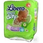 Diaper Libero Every day for children 7-18kg 20pcs 600g Sweden