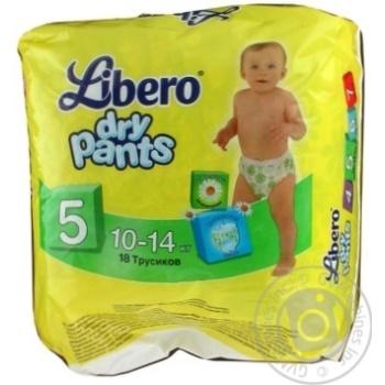 Подгузник Либеро Драй пентс для детей 10-14кг 18шт 540г Швеция