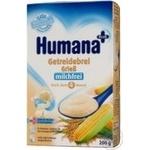 Каша детская Хумана кукурузно-рисовая безмолочная сухая с 6 месяцев 200г Германия