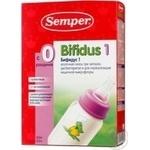 Смесь молочная Семпер Бифидус 1 детская сухая при запорах дисбактериозе и для нормализации кишечной микрофлоры с рождения 325г