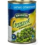 Vegetables pea Kwidzyn canned 380g can Poland
