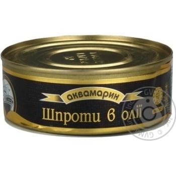 Шпроти Аквамарин в олії 230г - купити, ціни на CітіМаркет - фото 1
