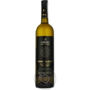 Вино Агмарти Алазанская долина белое полусладкое 11.5% 750мл Грузия